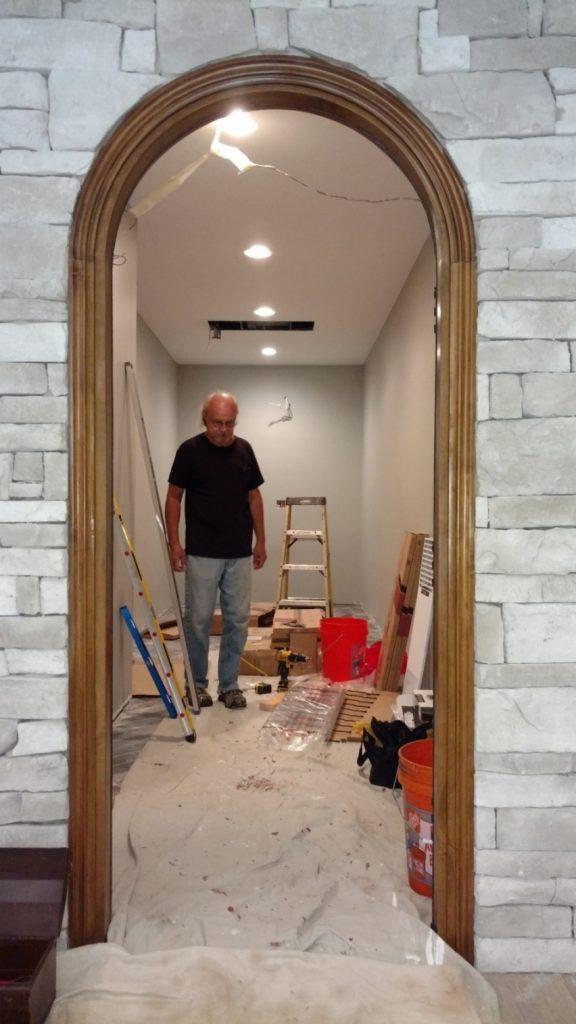 Wine Cellar Builder in Richmond, Virginia, During Installation Project
