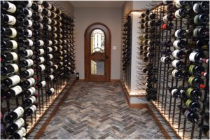 Modern and Traditional Wine Cellar