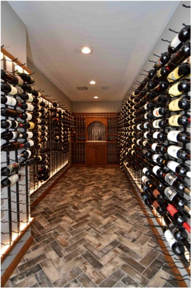 Modern Custom Wine Cellar Design for Construction Project Washington DC