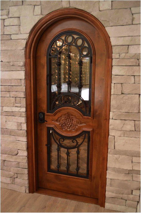 Custom Wine Cellar Doors For Construction Project