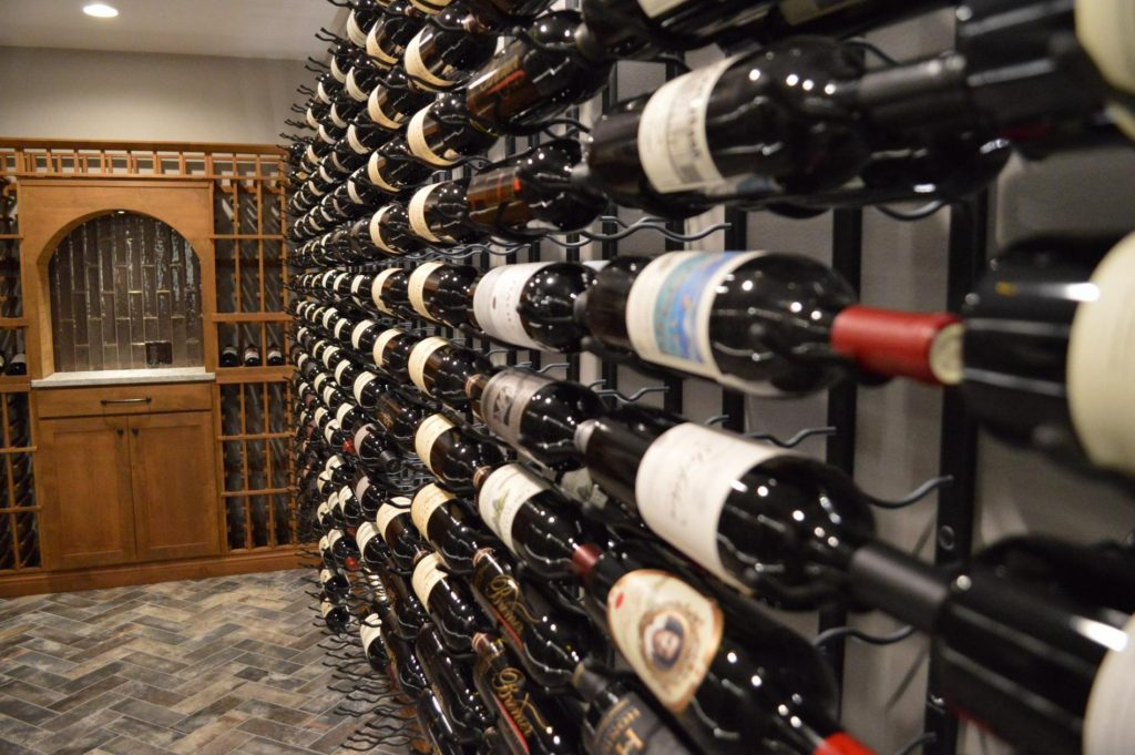 Custom Wine Cellar With Wood And Metal Racks Designed And Installed In  Richmond