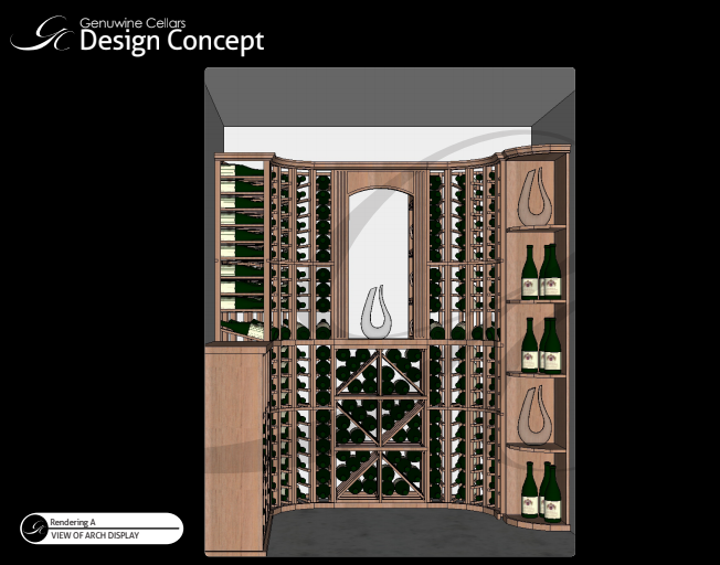 custom residential Baltimore wine cellar design