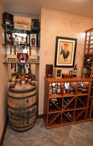 Baltimore wine cellar decor and art
