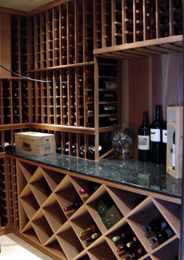 Custom Wine Cellar Installed with Wine Guardian Refrigeration System by Baltimore Builders