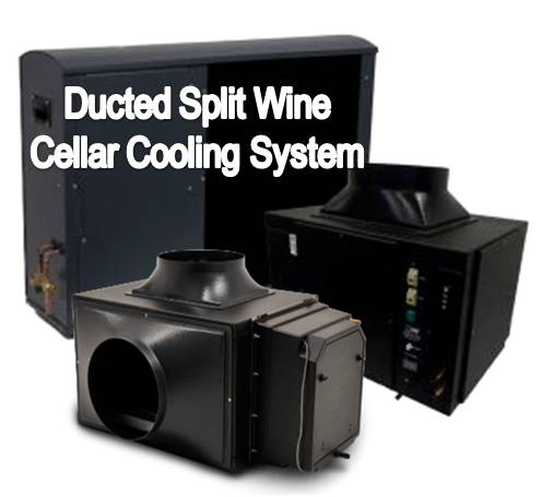 Ducted Split Wine Cooling Systems are Recommended for Difficult Installations