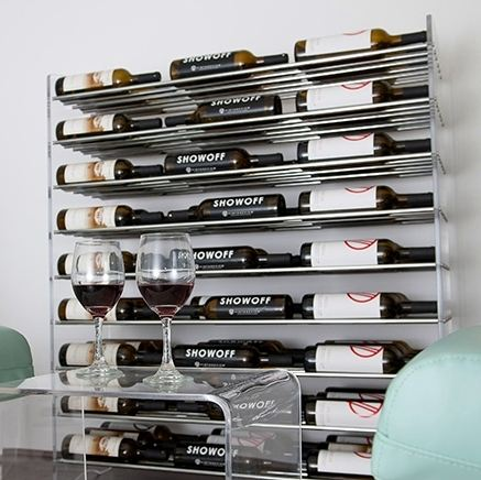 Evolution Series VintageView Wine Racks Steel Rods and Acrylic Sides