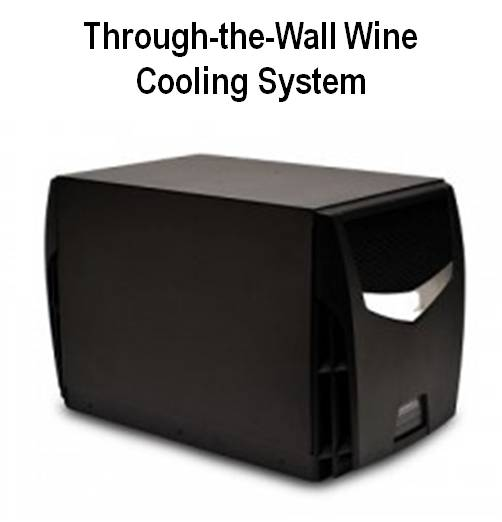 Through-the-Wall Wine Cooling Systems are Ideal for Small to Medium Size Wine Cellars