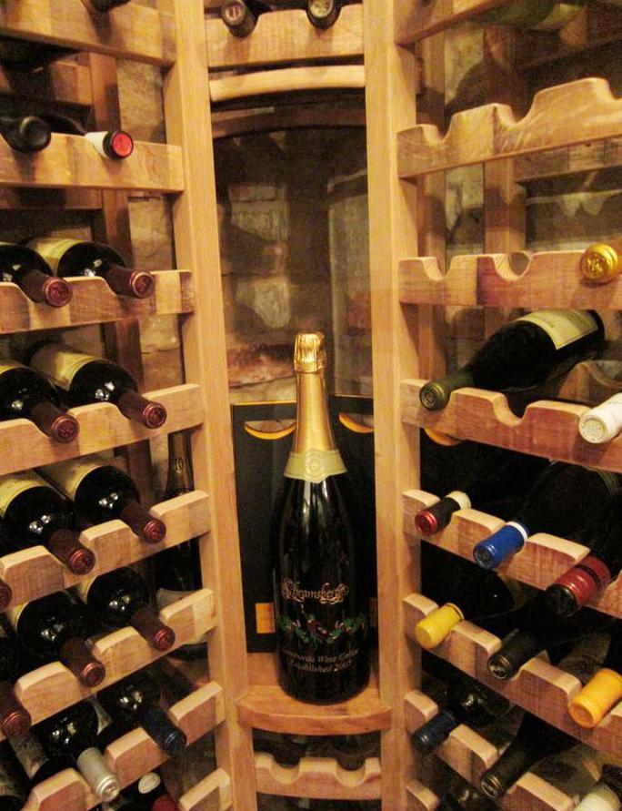 Wine Storage Room Equipped with a Wine Cooling System by Baltimore Builders