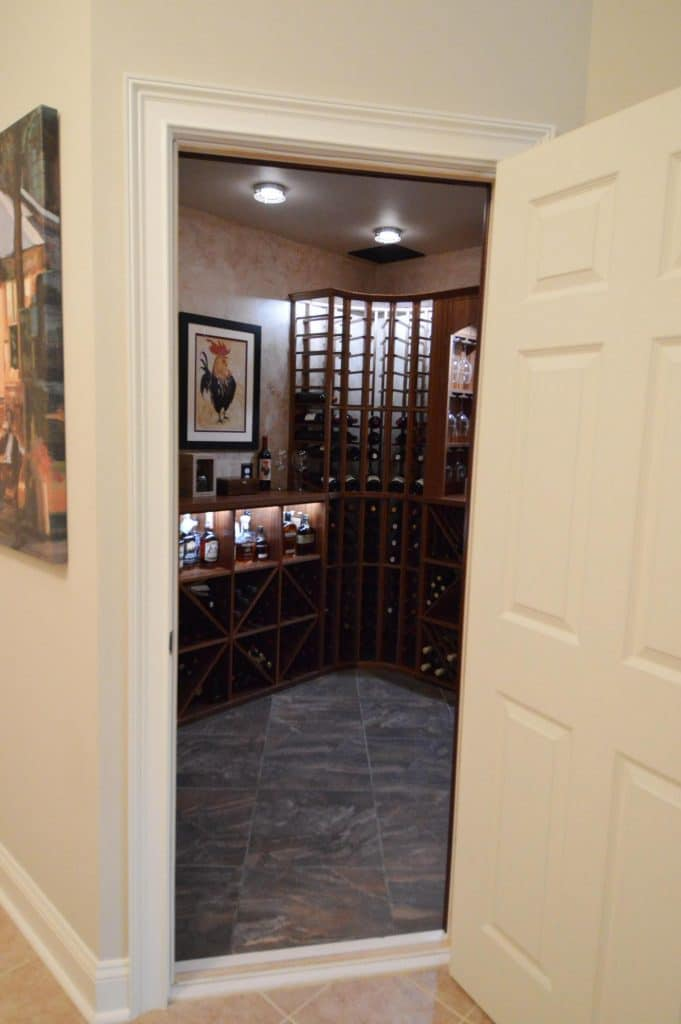 Solid Wood Wine Cellar Door Designed and Installed by Baltimore Master Builders