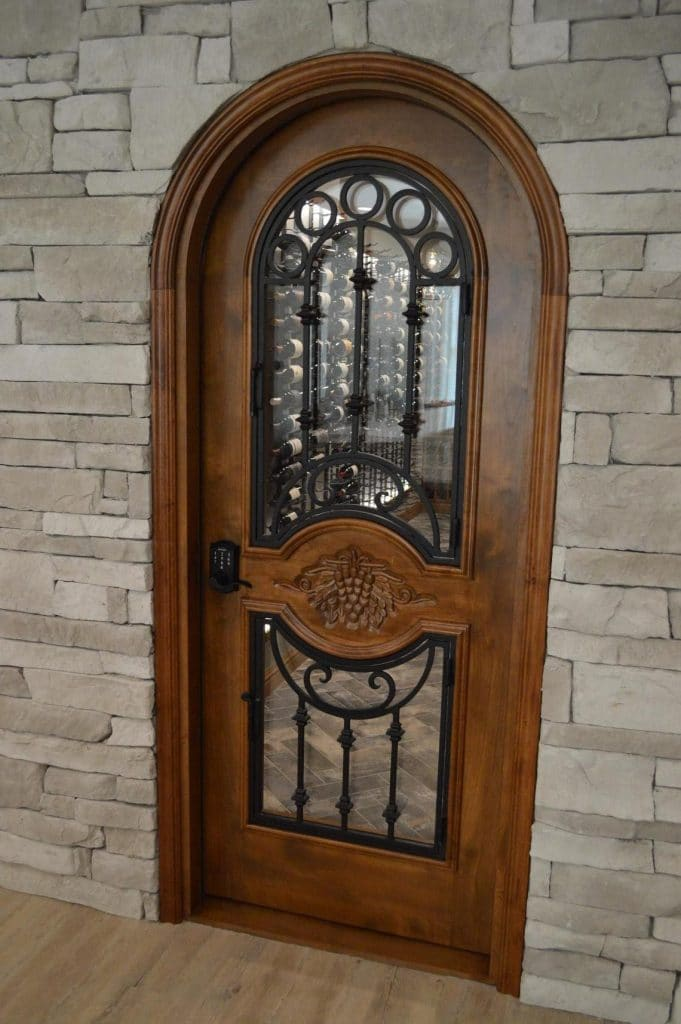 Wrought Iron Custom Wine Cellar Door Manufactured by Baltimore Experts
