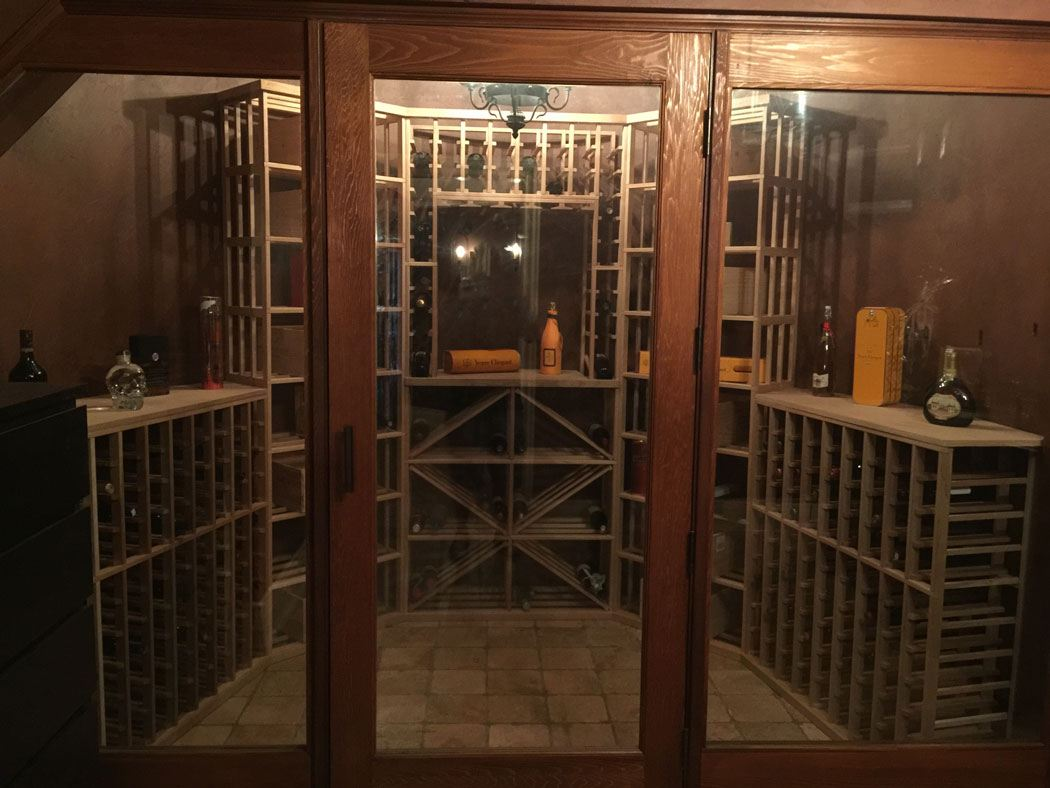 custom modern wooden wine racking