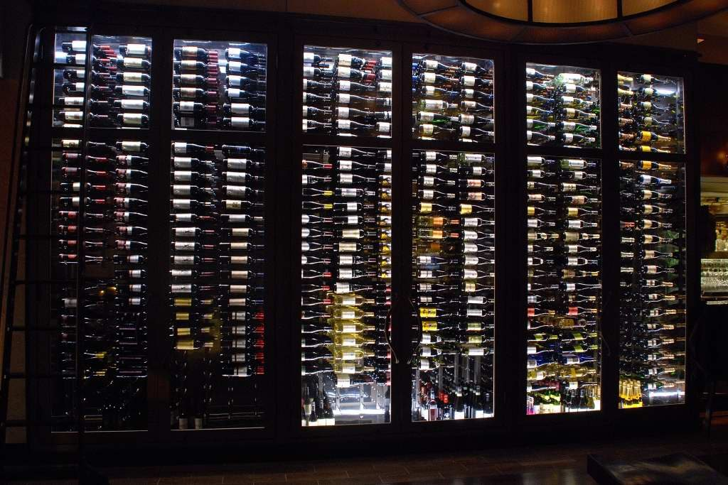 custom glass commercial wine display baltimore md