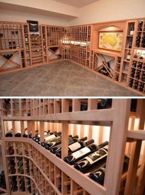 Beautiful Home Wine Cellar Created by Master Builders in Mclean, Virginia