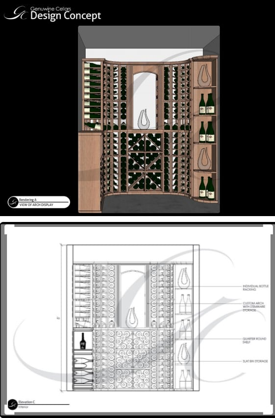 Creating a 3D Wine Cellar Design is a Crucial Step in Wine Cellar Construction in Mclean, Virginia