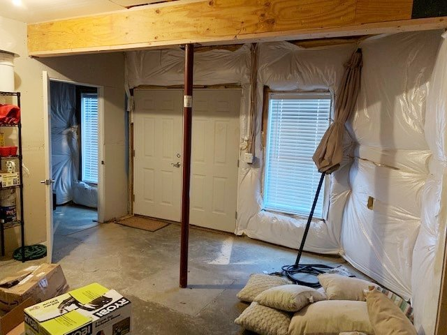 Ongoing Home Wine Cellar Construction: a Wine Room Prepped with Insulation and Vapor Barrier