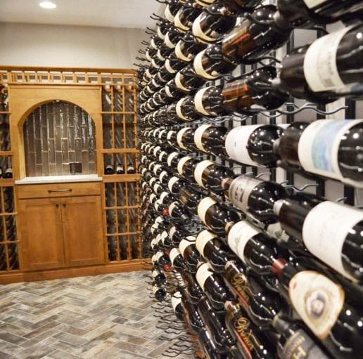 Transitional Wine Room Built by Harvest Custom Wine Cellars